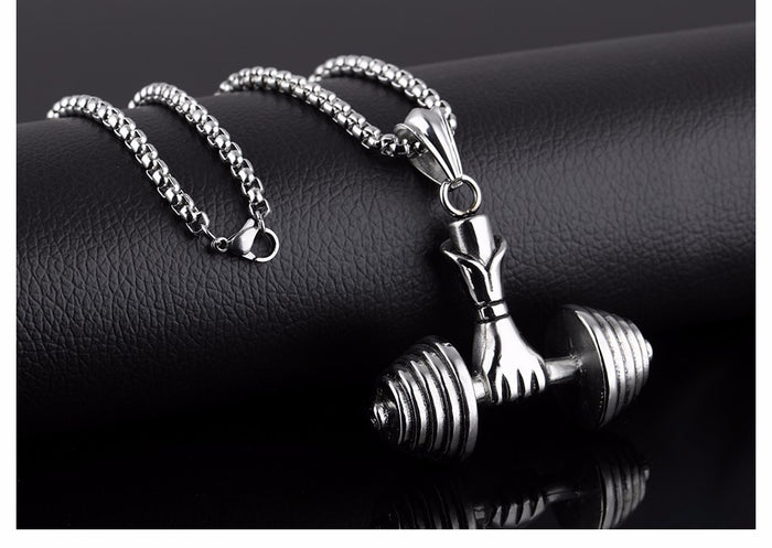 Dumbbell In Hand Necklace