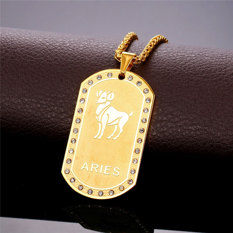 12 Zodiac Signs Necklace
