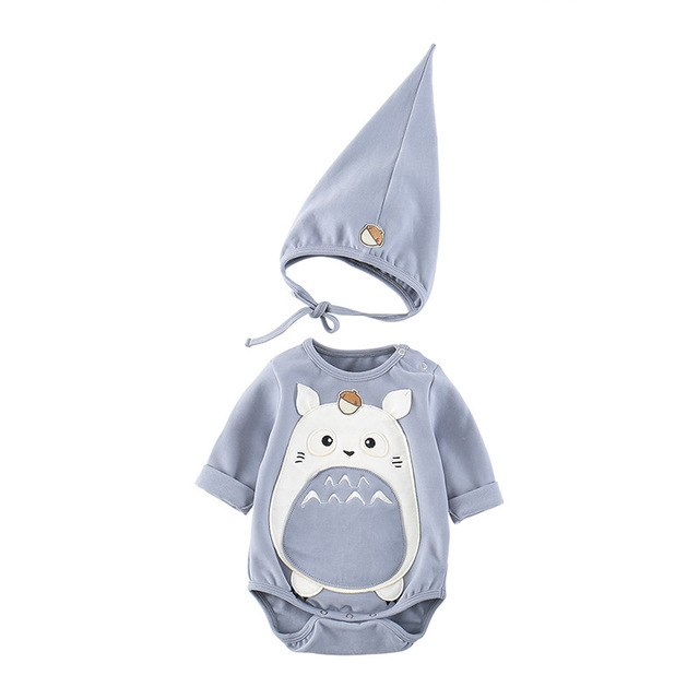 Totoro Romper with Hat