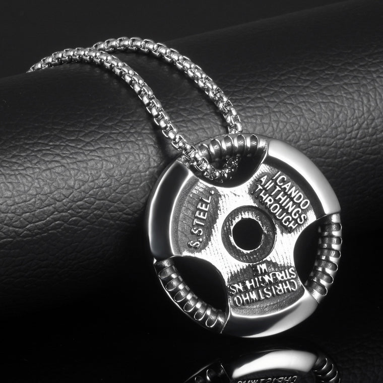 Barbell Plate Necklace