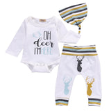 Newborn Boys oh deer im here- take home set- deer print outfit