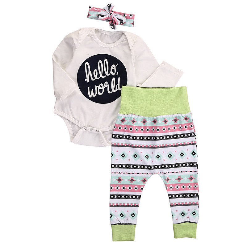 Newborn Hello World Outfit for Girl
