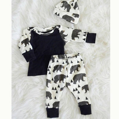 Baby Boy Bear Print Outfit