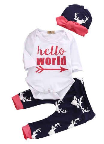 Newborn Baby Boy or girl   Oh Deer Im Here outfit