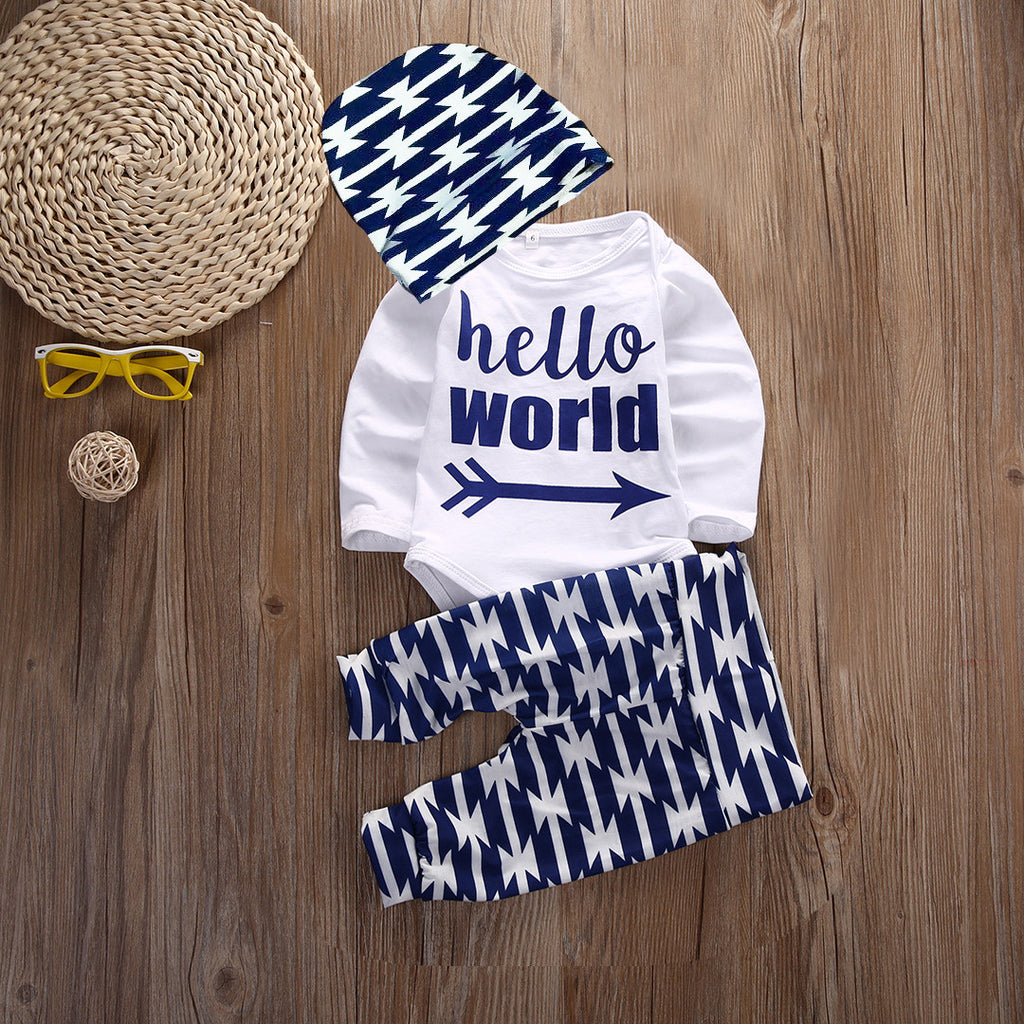 Newborn HELLO WORLD Outfit-take home outfit