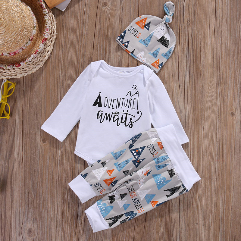 Adventure awaits baby boy take home set