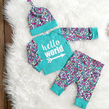 Newborn Take home Outfit-Hello World Set
