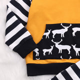 Newborn baby outfit with deer print