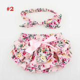 Bloomer & Headband Set Newborn Ruffle Diaper cover