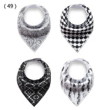 Bandana Bibs-set of 4 triange patterned bandana bibs
