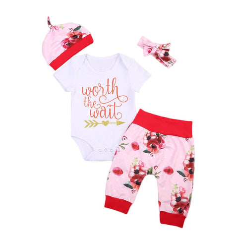 Newborn- Baby Girls Worth the Wait Outfit