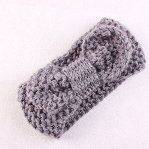 Baby Girl Knitted Headband With Flower