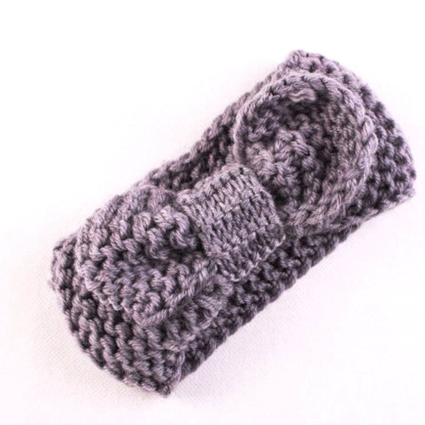 Baby Girl Knitted Headband with Bow