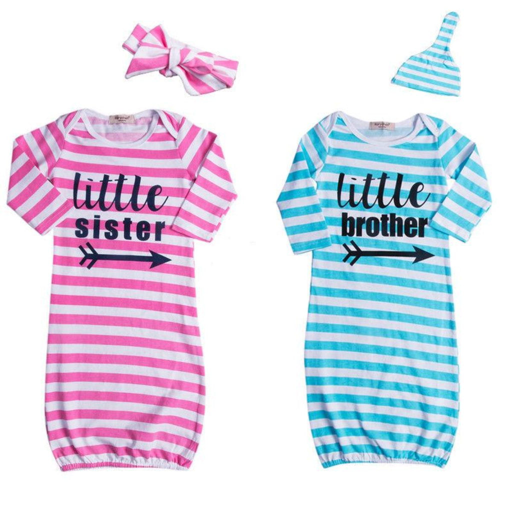 Little Sister or Brother Sleepsack Gowns