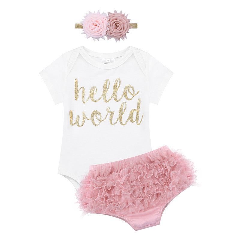 Hello World Baby Girl Take home Set