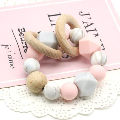 Baby teething Ring-Chew Beads