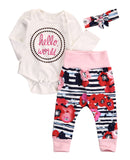 Newborn Girl Hello World outfit