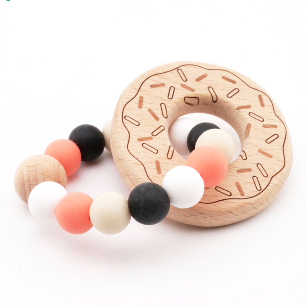 Baby Organic Teething Ring -Bamboo and Silicone