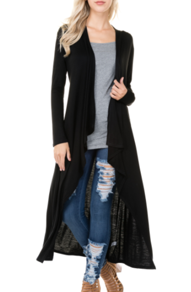 Long Sleeve Waterfall Cardigan