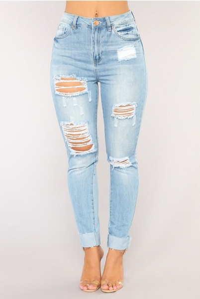 Stretch Ripped Jean