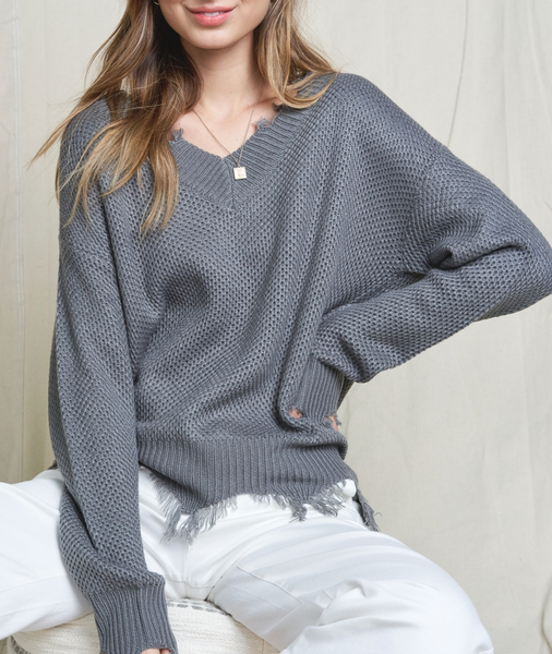 V Neck Slouchy fit Top
