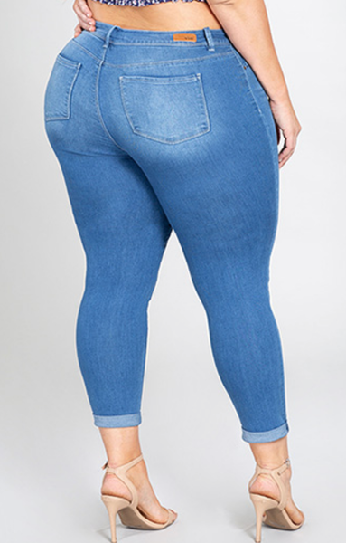 Mid- Rise Ankle Jean