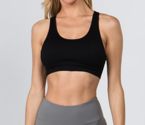 Shredded Back Sports Bra