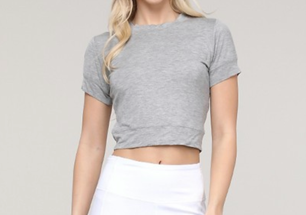 Cropped-Back cut-out Top