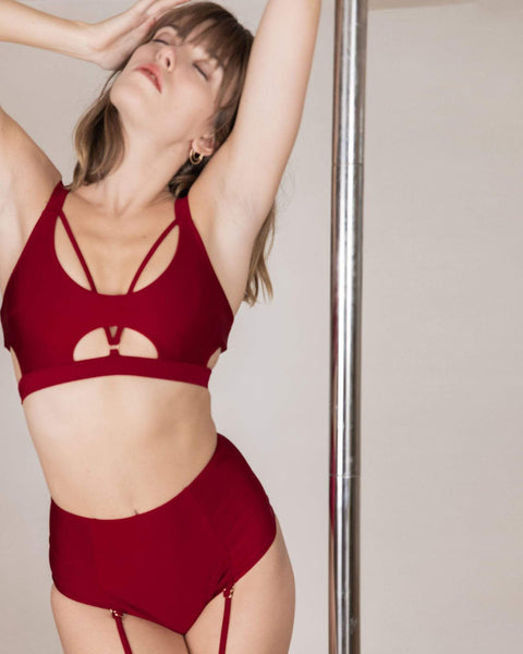 Chantay Polewear Tops Baby Valentine Top - Bordeaux