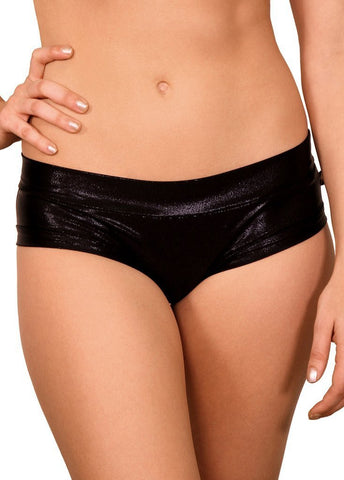 Cleo the Hurricane Shorts Metallic Black Hot Pants