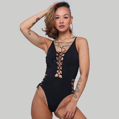 Alabama Bodysuit Black - Creatures of XIX - PoleActive