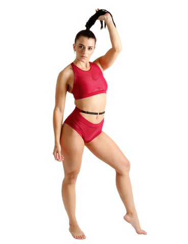 Indi Polewear Tops Liquid Top - Babylon Red
