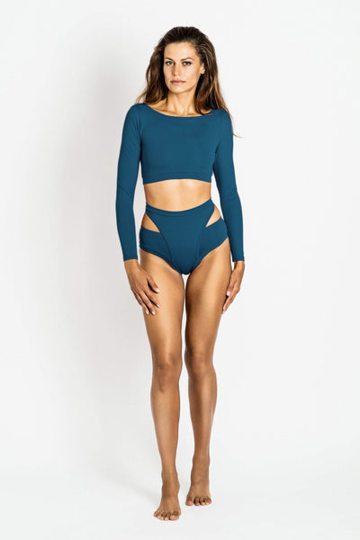 Aleksandra Long Sleeved Top Ocean Blue - MilaKrasna - PoleActive