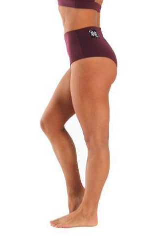 Off the Pole Shorts High Waisted Pole Shorts Burgundy