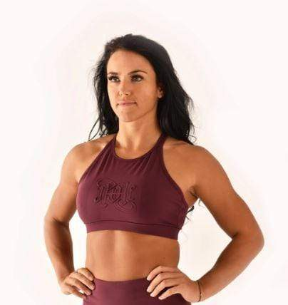 Off the Pole Tops Embossed Sports Bra Burgundy