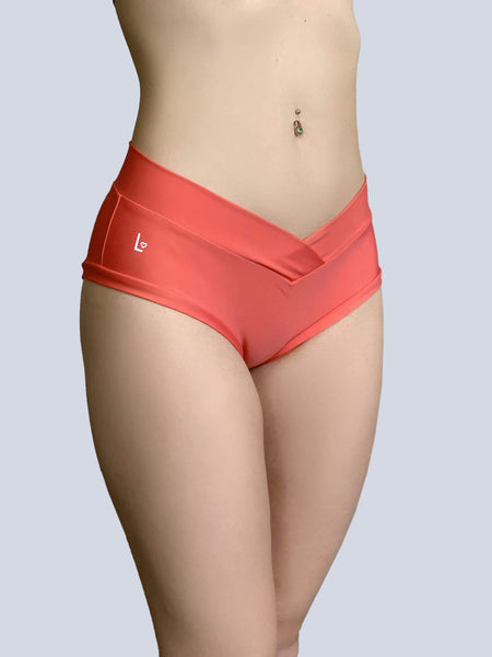 Essential Shorts 2.0 Coral - PoleActive - PoleActive