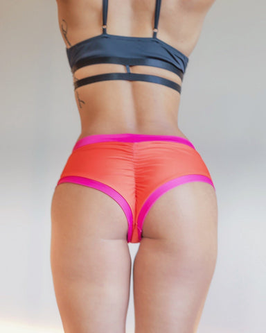 Essential Shorts Reversible Pink/Coral - PoleActive - PoleActive