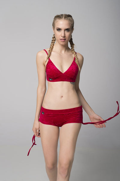 Rad Polewear Tops Velvet Monica Top Red