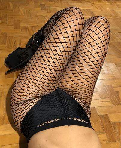 Fishnet Tights Large Crosses Pattern