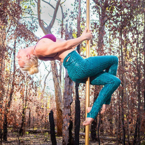 Super Fly Honey Leggings Sticky Fishnet Leggings Green Forest
