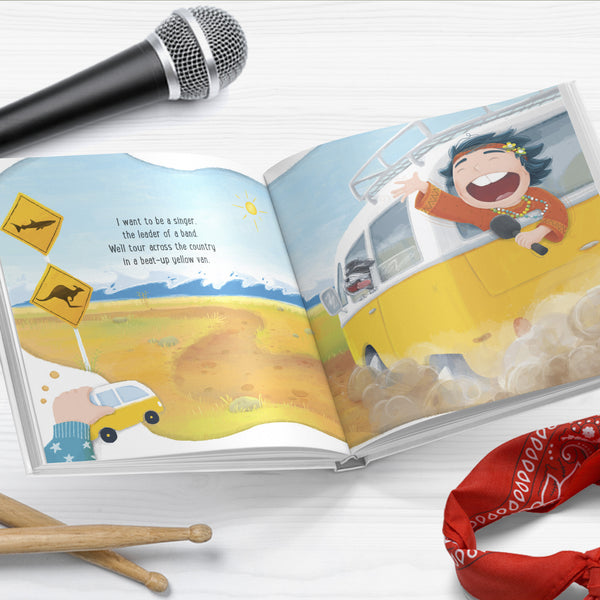 I want to be a Rock Star - SIGNED Hardcover Picture Book