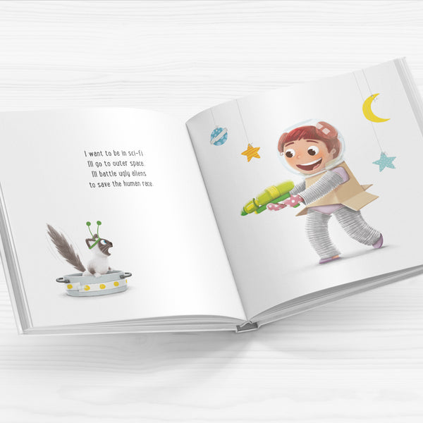I want to be a Movie Star - SIGNED Hardcover Picture Book