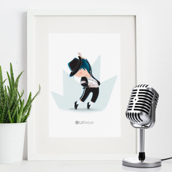 Pop Star - A4 Mounted Art Print
