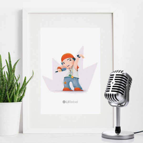Rap Star - A4 Mounted Art Print