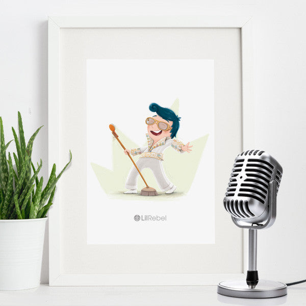 Rock & Roll Star - A4 Mounted Art Print