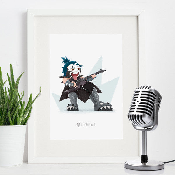 Rock Legend - A4 Mounted Art Print