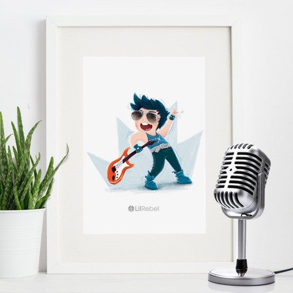 Rock Star - A4 Mounted Art Print