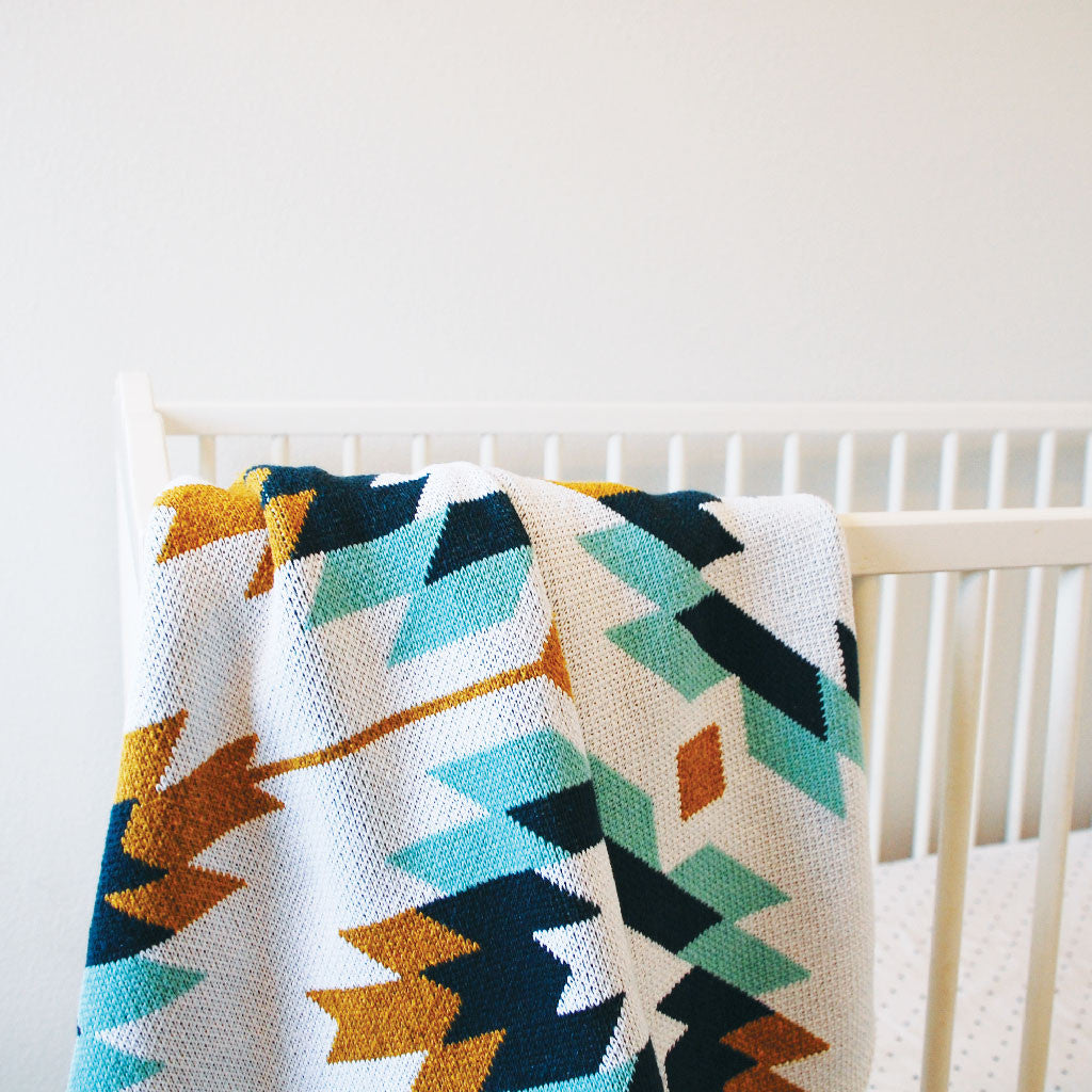 Seek & Swoon Baby Blue Sedona Throw Blanket