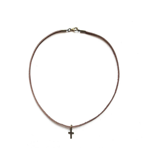 Child's Cross Diffuser Necklace