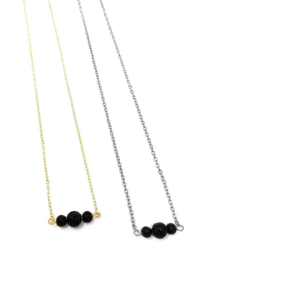 Dainty Lava Bar Diffuser Necklace